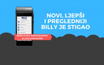 Redizajnirali smo sučelje aplikacije Billy fiskalna blagajna